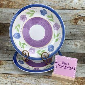 Gibson Mix n Match BELLA Blue Flower Dinner Plates